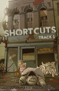 The cover of SHORTCUTS: Track 1, by Christchurch artist K.C. Bailey